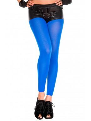 Legging bleu fin opaque et uni