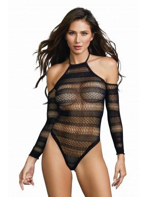 Body string ajouré à motifs et épalues nues