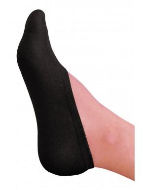 Bas chaussettes couvre pieds noir