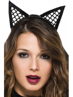 Oreilles de chatte pointues filet - ML70854BLK