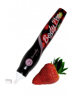 Stylo corporel fraise comestible - SP1531