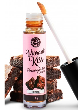 Gloss sexe oral vibrant au brownie 100% comestible - SP6553