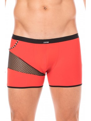 Boxer rouge filet et corde - LM2004-67RED