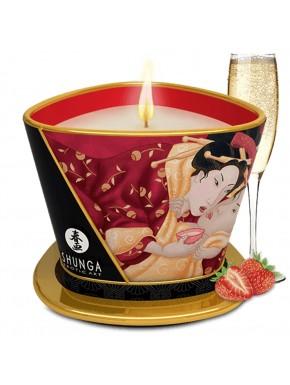 Bougie de massage fraise vin pétillant 170ml - CC824508