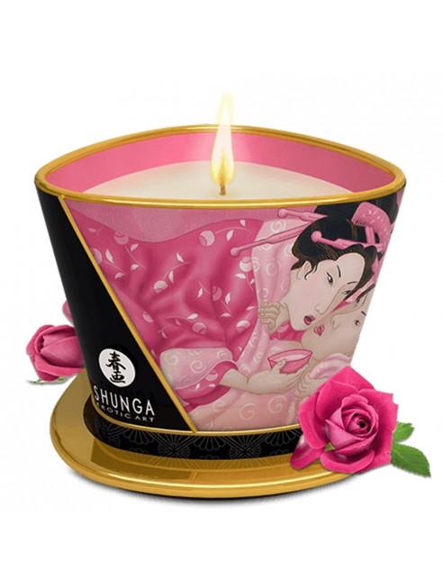 Dropshipping Shunga bougie de massage à la rose