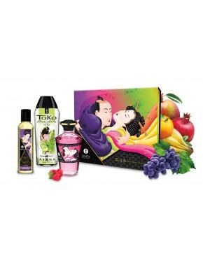 Cofret huiles de massage et lubrifiant Baiser fruités