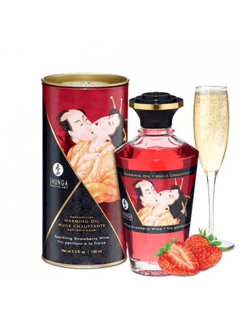 Grossiste huile de massage fraise comestible Shunga dropshipping