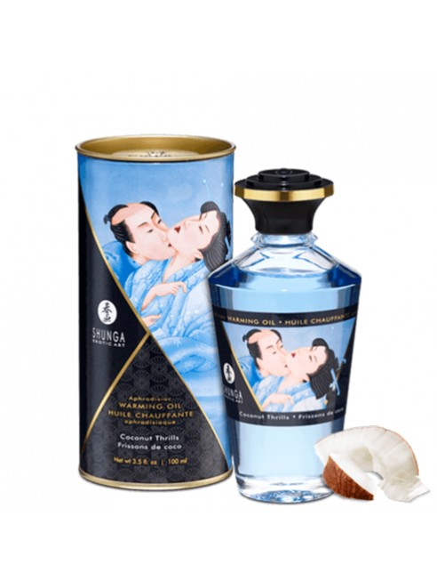 Fournisseur huile de masssage noix de coco chauffante comestible Shunga