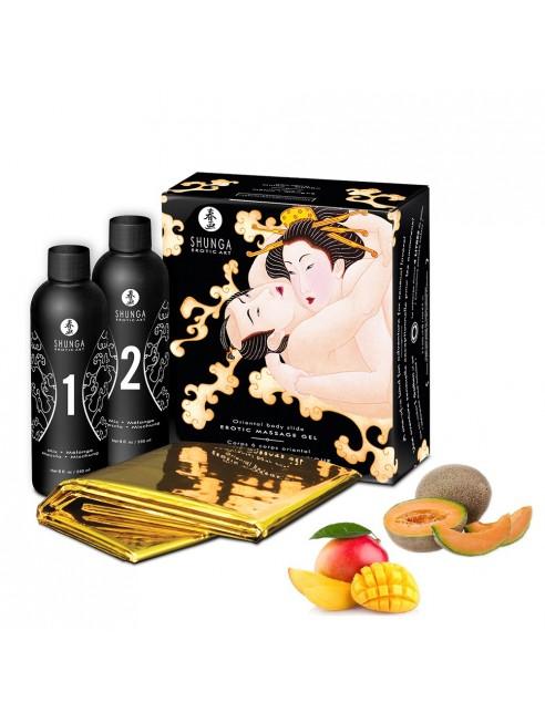 Grossiste dropshipping Shunga Gelée de massage oriental melon mangue