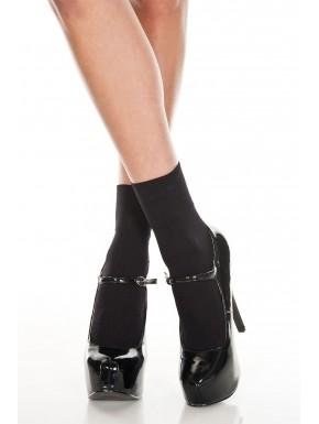 Socquettes noir semi transparente en résille - MH512BLK