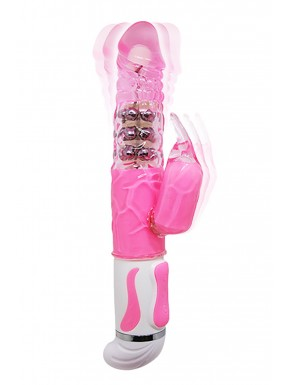 Vibromasseur Rabbit rose intenses 12 vibrations et 4 rotations - CC530322