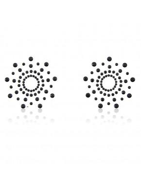 Paire de cache tétons adhésifs noir - 202411030