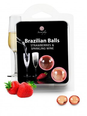 Boules de massage Brésiliennes fraise vin pétillant