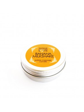 Mini Bougie de massage milshake banane 30ml - SEZ073