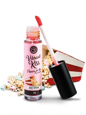 Gloss sexe oral vibrant au pop corn 100% comestible - SP6584