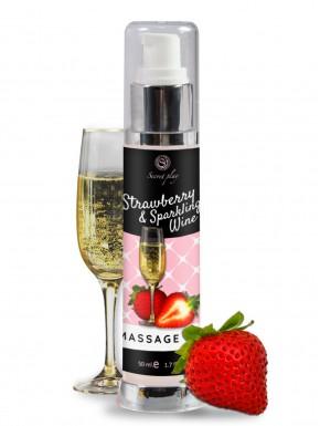 Huile de massage fraise vin pétillant 50 ml - SP6837