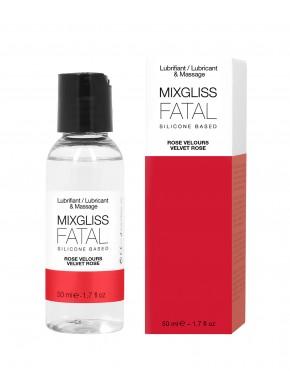 2 en 1 Lubrifiant et huille de massage silicone Mixgliss Fatal Rose velours 50 ML - MG2498