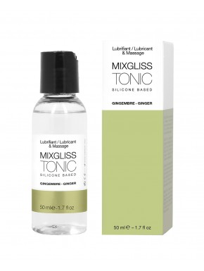 2 en 1 Lubrifiant et huille de massage silicone Mixgliss Tonic Gingembre 50 ML - MG2320
