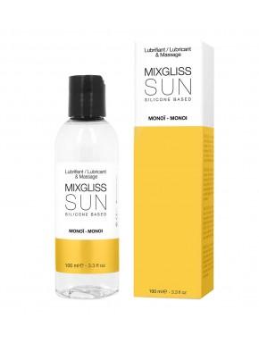 2 en 1 Lubrifiant et huille de massage silicone Mixgliss Sun Monoï 100 ML - MG2212