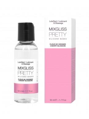 2 en 1 Lubrifiant et huille de massage silicone Mixgliss Pretty Fleur de cerisier 50 ML - MG2511