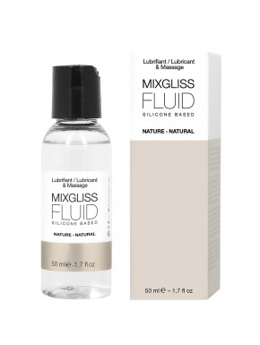 Lubrifiant Mixgliss Fluid nature silicone sans parfum 50 ML - MG2001