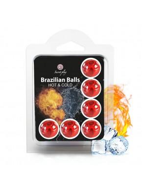 Boules de massage Brésiliennes effet chaud froid x6 - BZ6292