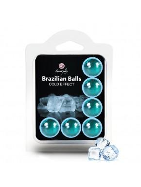 6 Boules de massage Brésiliennes effet fraîcheur