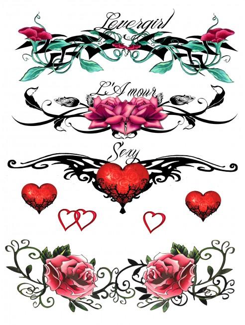 Tatouage éphémère - Plaque de 4 tattoos - TATribal 7