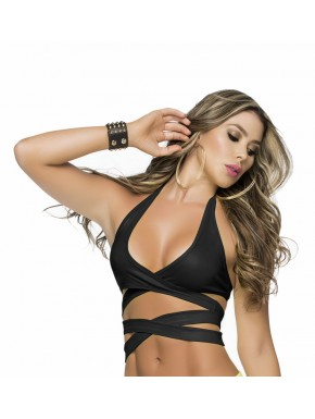 "Top ""Wrap Around"" - MAL9024BLK"