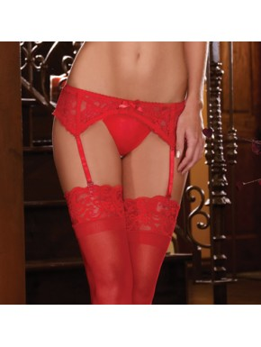 Porte jarretelle dentelle - DG8735RED
