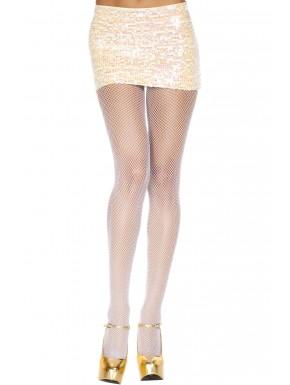 Collant blanc sexy fine résille - MH9001WHT