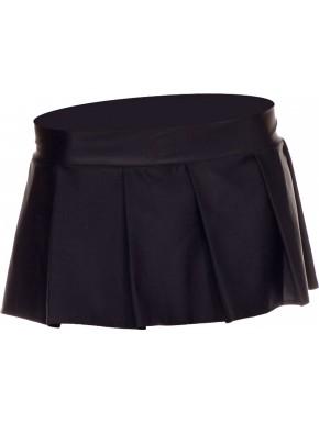 Mini jupe plissée, uni - ML25075BLK