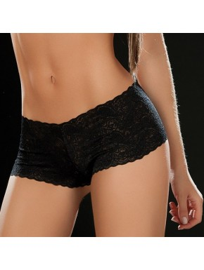 Boyshort dentelle 90 Black - MAL90BLK