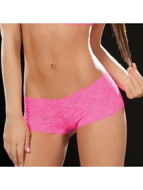Boyshort dentelle 90 Hot Pink